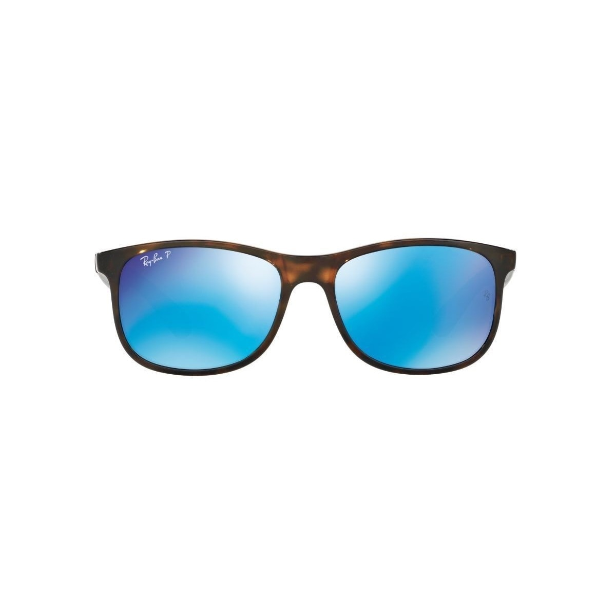 8f0c03d601d Shop Ray-Ban Andy RB4202 710 9R Men s Tortoise Frame Polarized Blue Flash  55mm Lens Sunglasses - Free Shipping Today - Overstock - 15287679