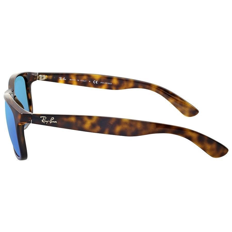 da8753480f Shop Ray-Ban Andy RB4202 710 9R Men s Tortoise Frame Polarized Blue Flash  55mm Lens Sunglasses - Free Shipping Today - Overstock - 15287679