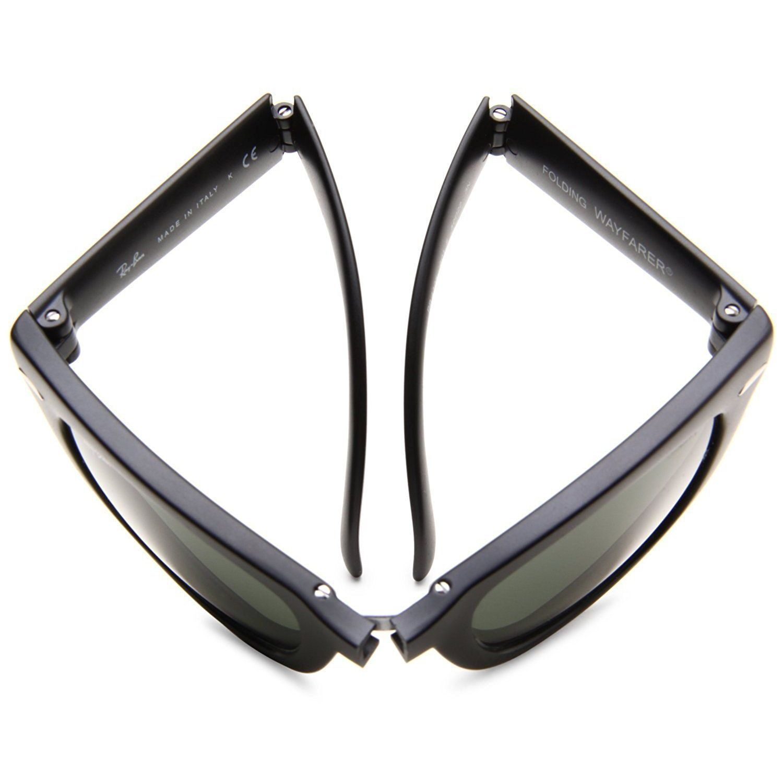 e1fbd6fcebd Shop Ray-Ban Wayfarer Folding RB4105 601 58 Unisex Black Frame Polarized  Green 54mm Lens Sunglasses - Free Shipping Today - Overstock.com - 15287900