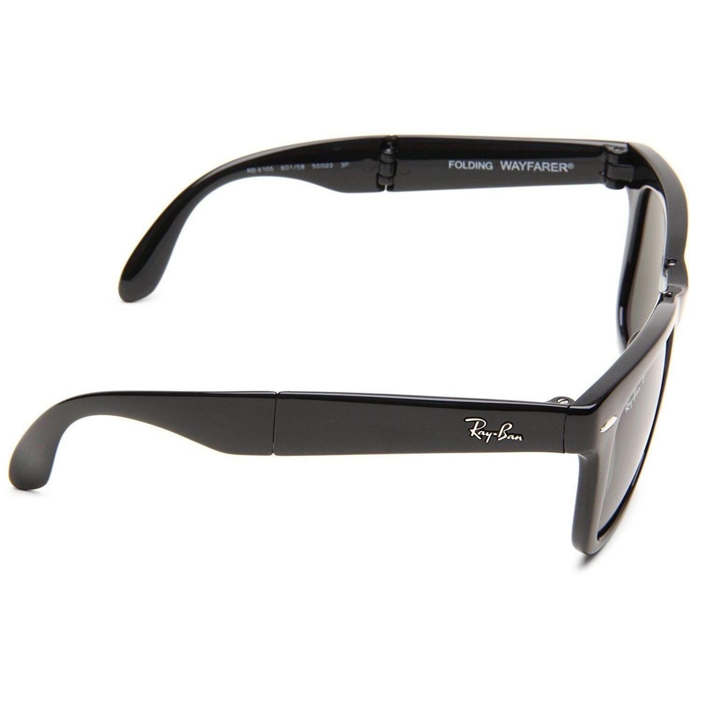 c147994afd Shop Ray-Ban Wayfarer Folding RB4105 601 58 Unisex Black Frame Polarized  Green 54mm Lens Sunglasses - Free Shipping Today - Overstock.com - 15287900