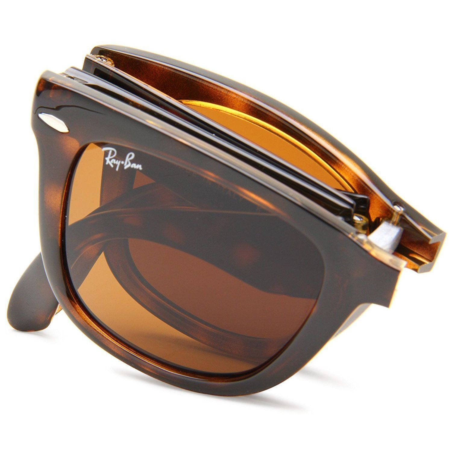 9fc398a893b Shop Ray-Ban Wayfarer Folding RB4105 710 51 Unisex Tortoise Frame Light  Brown Gradient 54mm Lens Sunglasses - Free Shipping Today - Overstock -  15288001