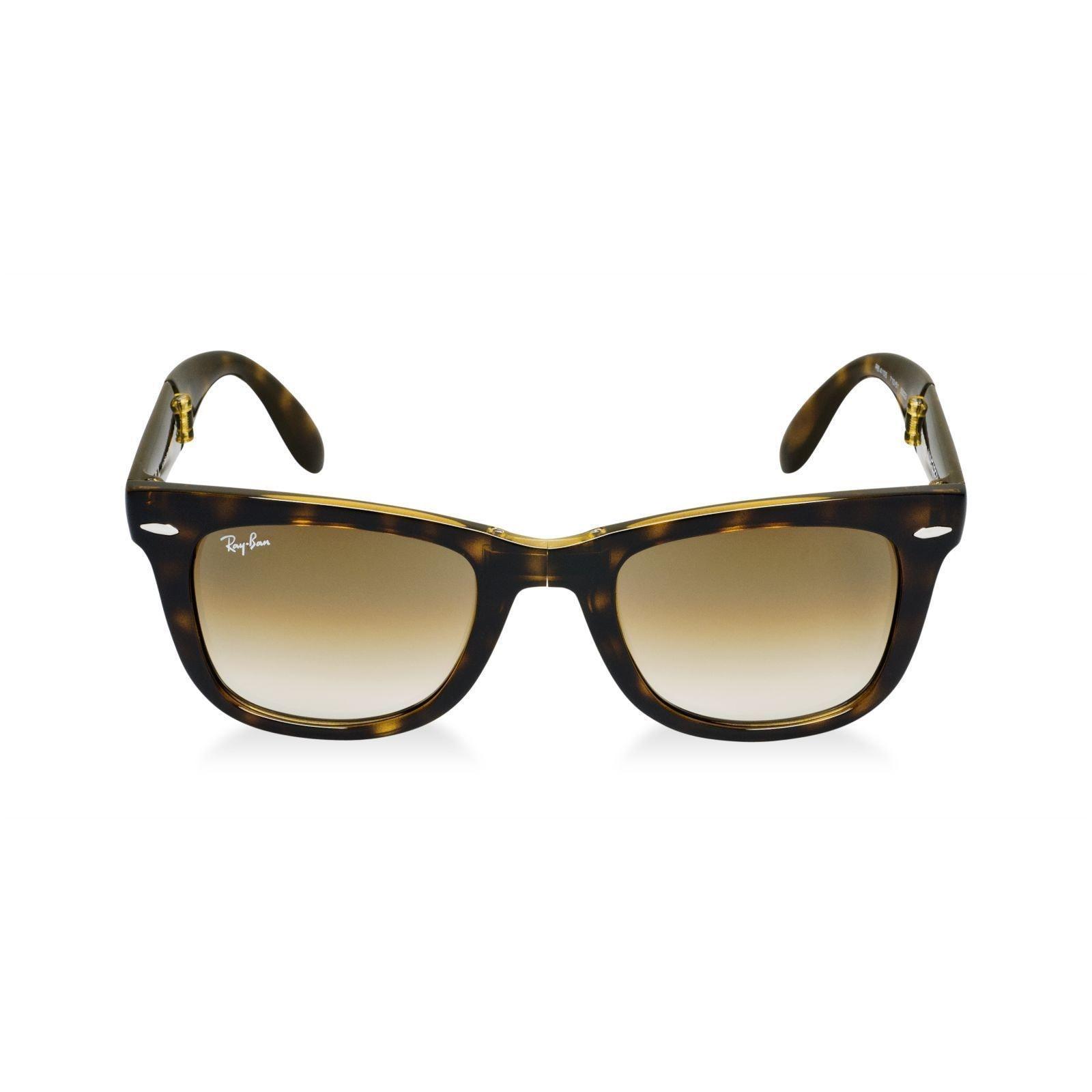 0e06430ed5 Shop Ray-Ban Wayfarer Folding RB4105 710 51 Unisex Tortoise Frame Light Brown  Gradient 54mm Lens Sunglasses - Free Shipping Today - Overstock - 15288001