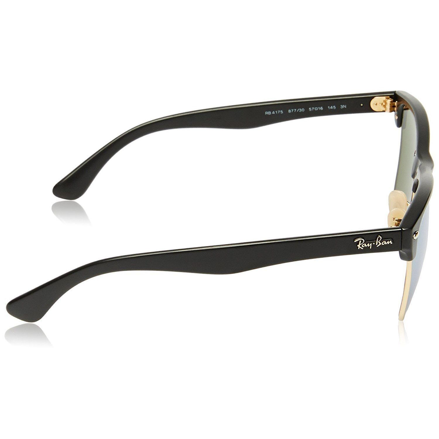 d7629544c7796 ... where to buy shop ray ban clubmaster oversized rb4175 877 30 unisex  black frame silver flash