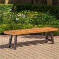 Carlisle Outdoor Rustic Acacia Wood Bench (only) by Christopher Knight Home