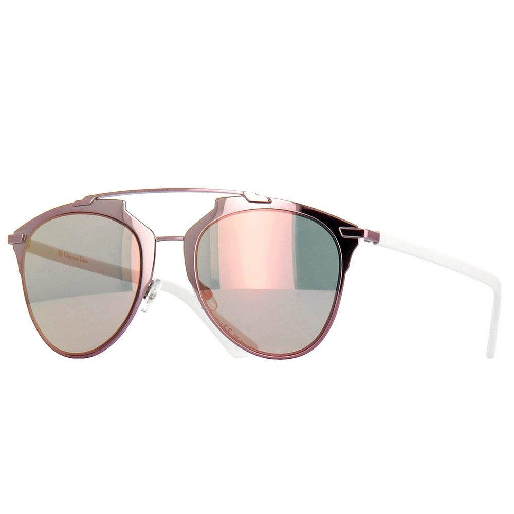 b4e2060bb412 Dior Dior Reflected/S M2Q 0J Pink/White Metal Aviator Sunglasses with Rose  Gold Lens