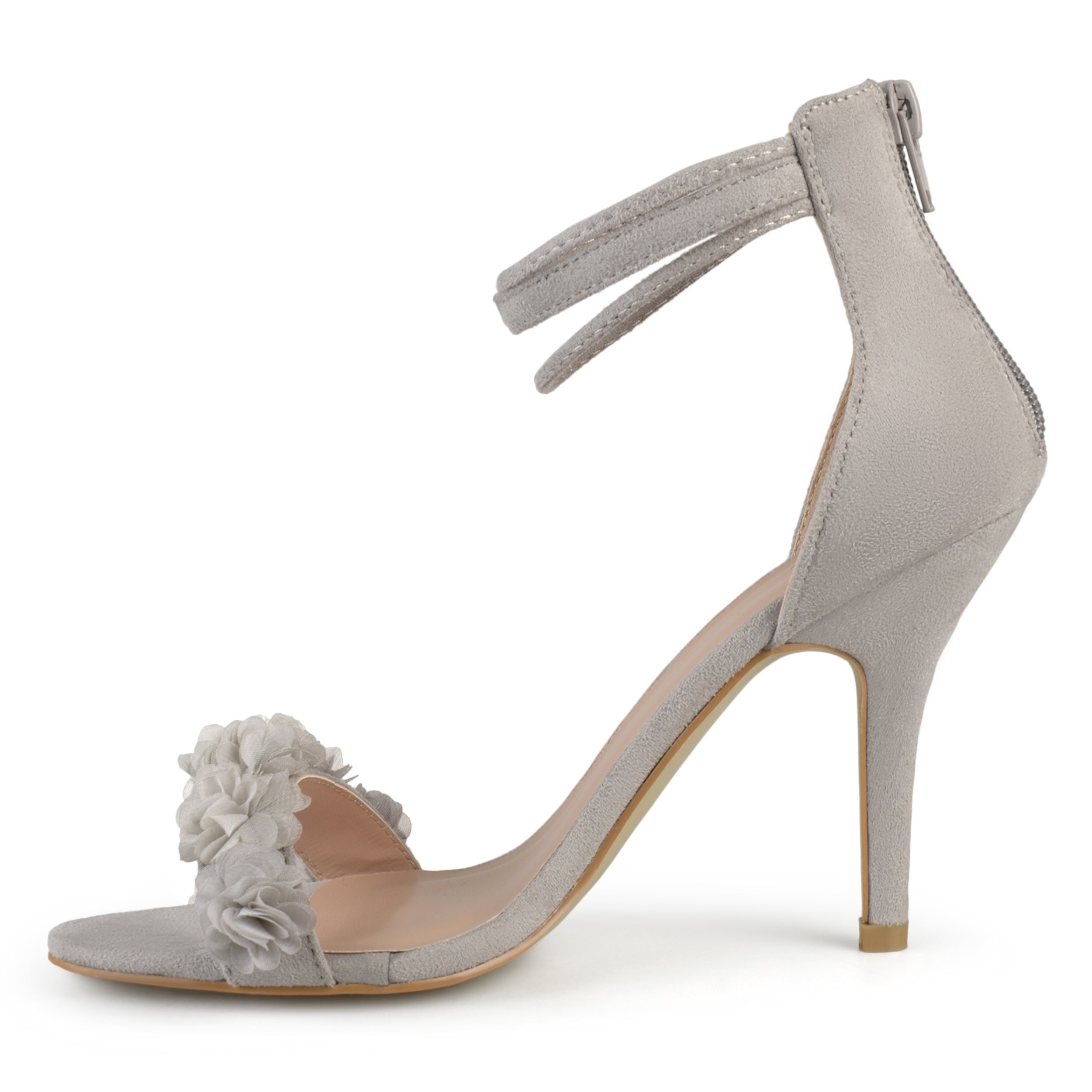 6aa57596896 Shop Journee Collection Women s  Eloise  Ankle Strap Flower High Heels -  Free Shipping On Orders Over  45 - Overstock - 15292727