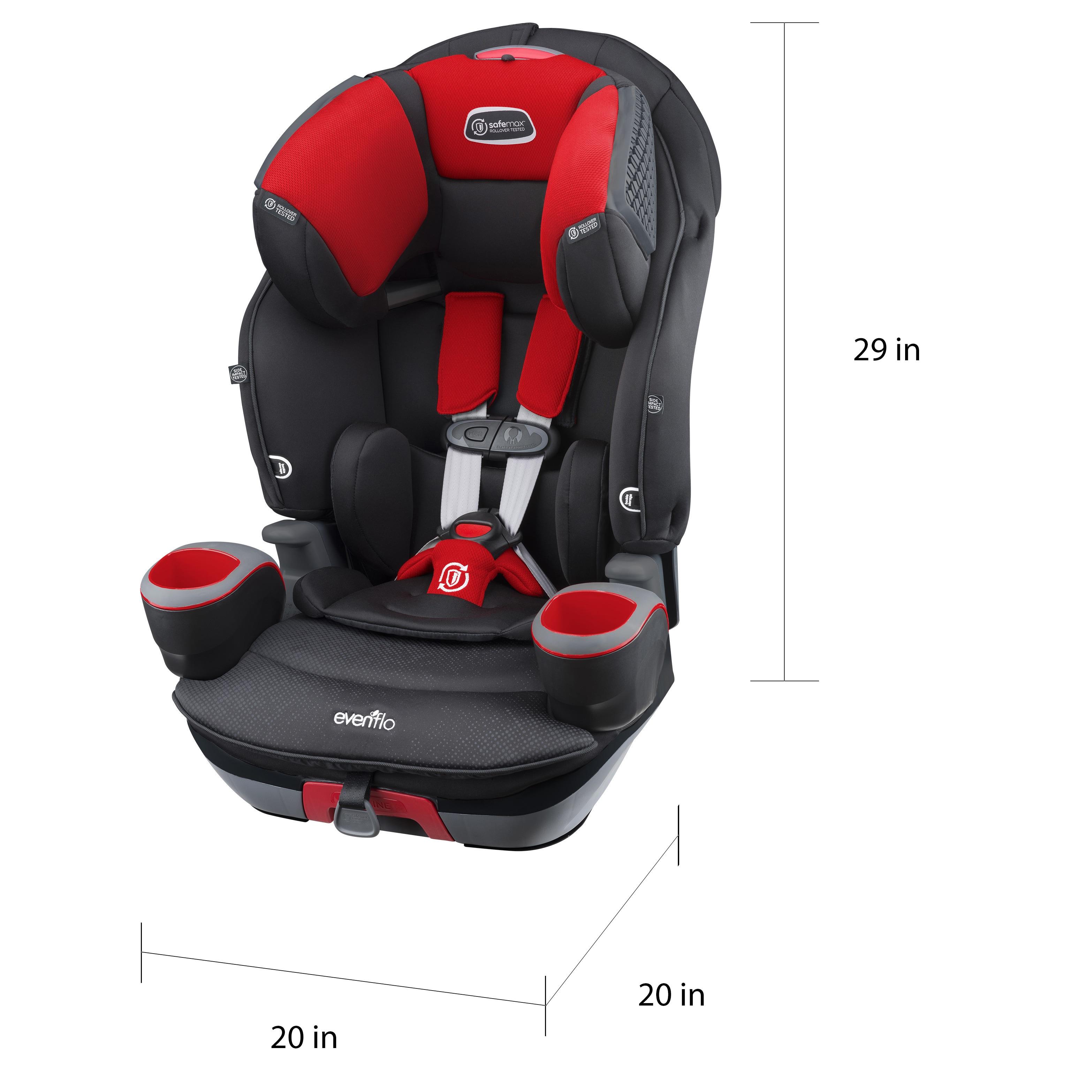 Shop Evenflo SafeMax Crimson Black 3 In 1 Combination Booster Car Seat