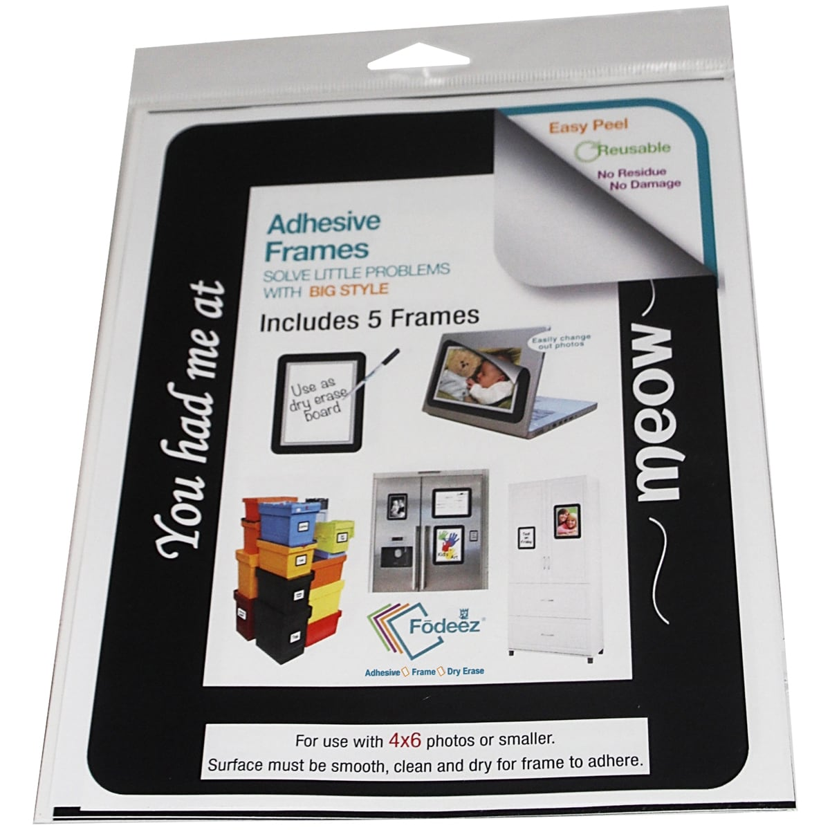 Adhesive Display Frames 5/Pkg-Best Friend 4\