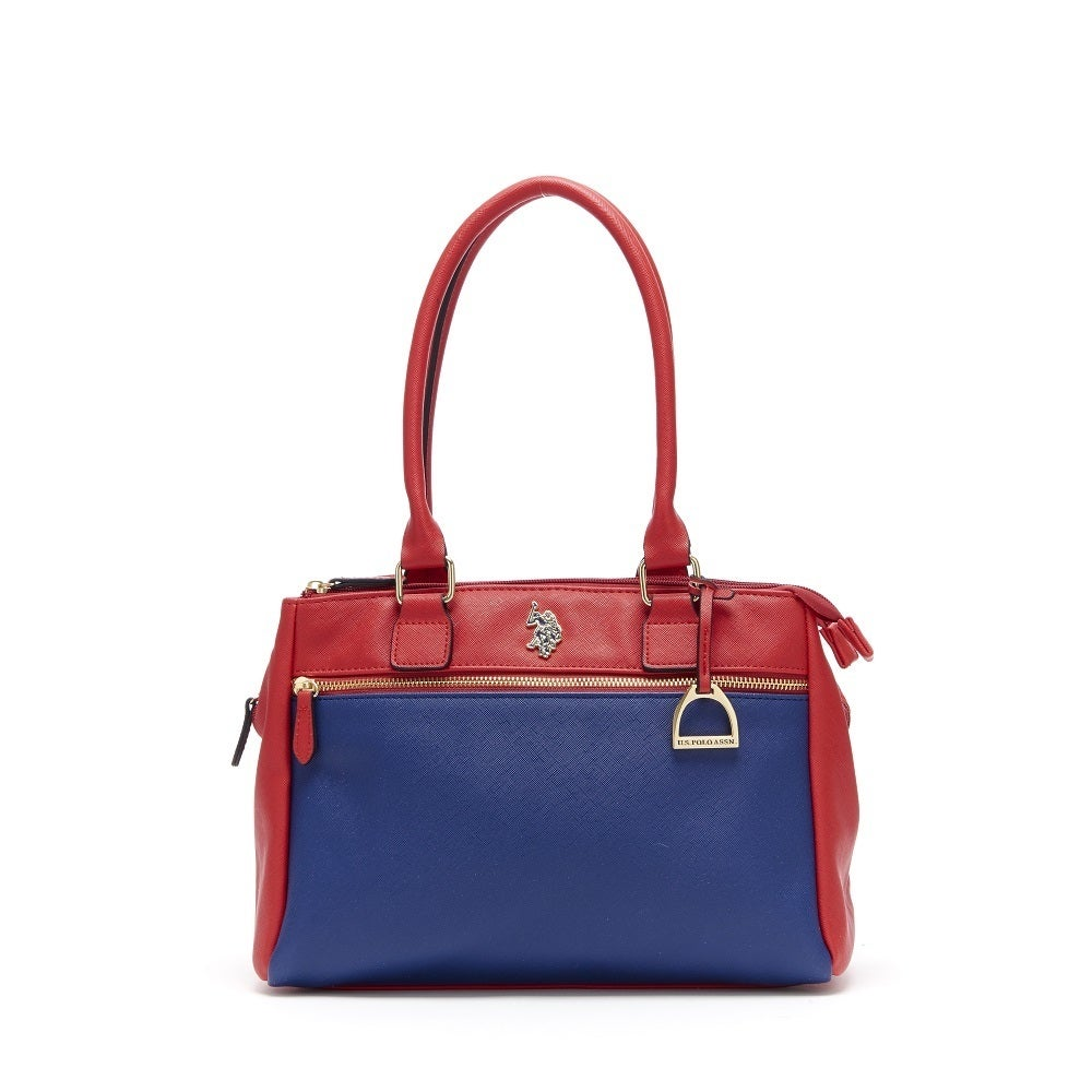 145080c0f41b Shop U.S. Polo Association Jenna Color Block Faux Leather Triple Entry  Satchel Handbag - Free Shipping On Orders Over  45 - Overstock.com -  15296726