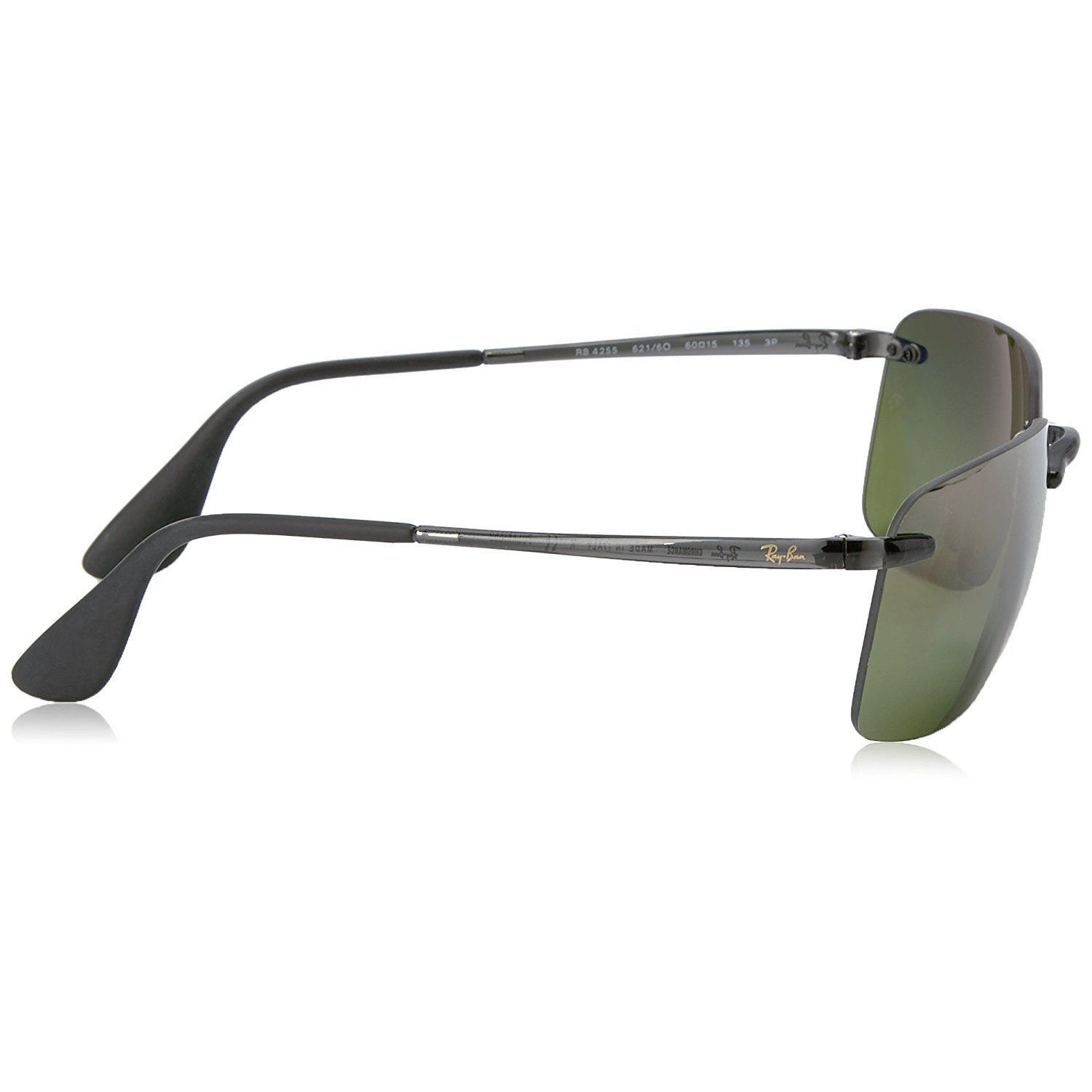 b2eebb2b69 Shop Ray-Ban RB4255 621 6O Men s Rimless Polarized Green Mirror Chromance  60mm Lens Sunglasses - Free Shipping Today - Overstock - 15297154