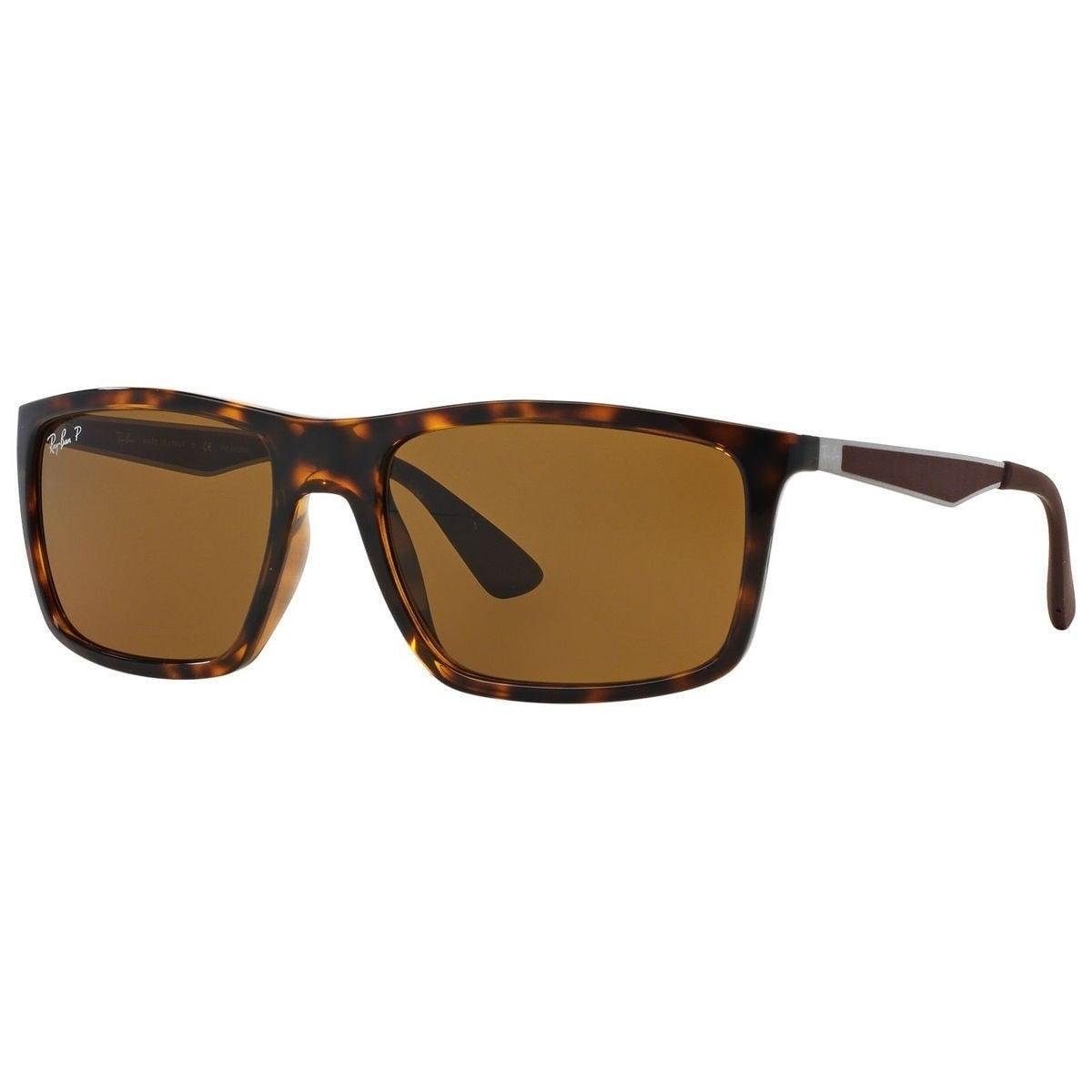 dda88bc81c Shop Ray-Ban RB4228 710 83 Men s Tortoise Gunmetal Frame Polarized Brown  58mm Lens Sunglasses - Ships To Canada - Overstock - 15297180