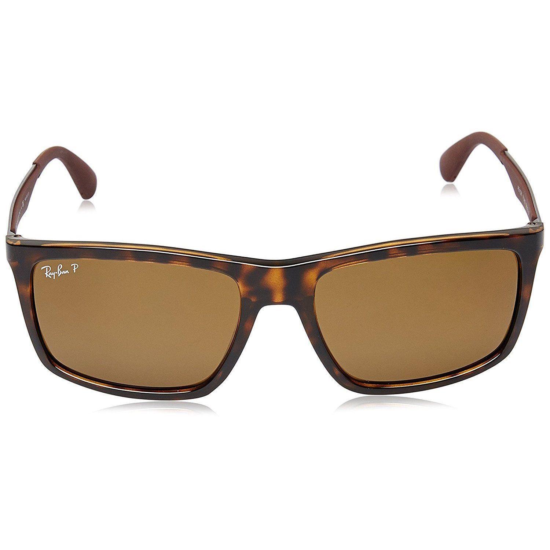 85d9f4e5b4 Shop Ray-Ban RB4228 710 83 Men s Tortoise Gunmetal Frame Polarized Brown  58mm Lens Sunglasses - Free Shipping Today - Overstock - 15297180