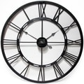 Infinity Instruments Black and Bronze Metal Fusion 28-inch Wall Clock