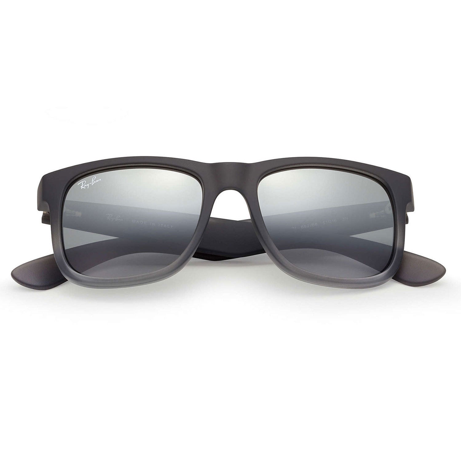 4a33d5857e Shop Ray-Ban Justin Classic RB4165 Men s Matte Grey Frame Silver Gradient Mirror  51mm Lens Sunglasses - Free Shipping Today - Overstock - 15298633