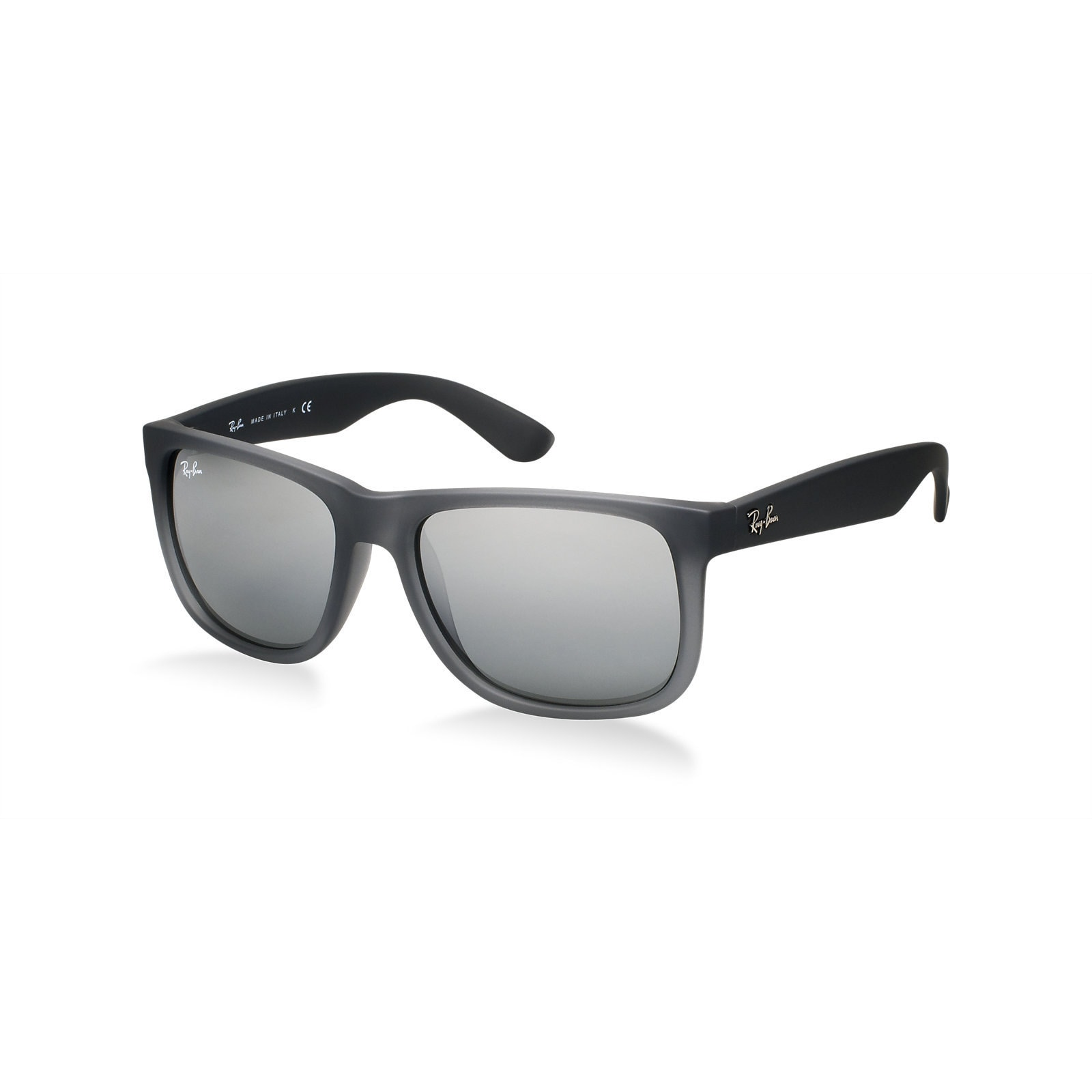 fd308a078c0 Ray-Ban Justin Classic RB4165 Men s Matte Grey Frame Silver Gradient Mirror  51mm Lens Sunglasses