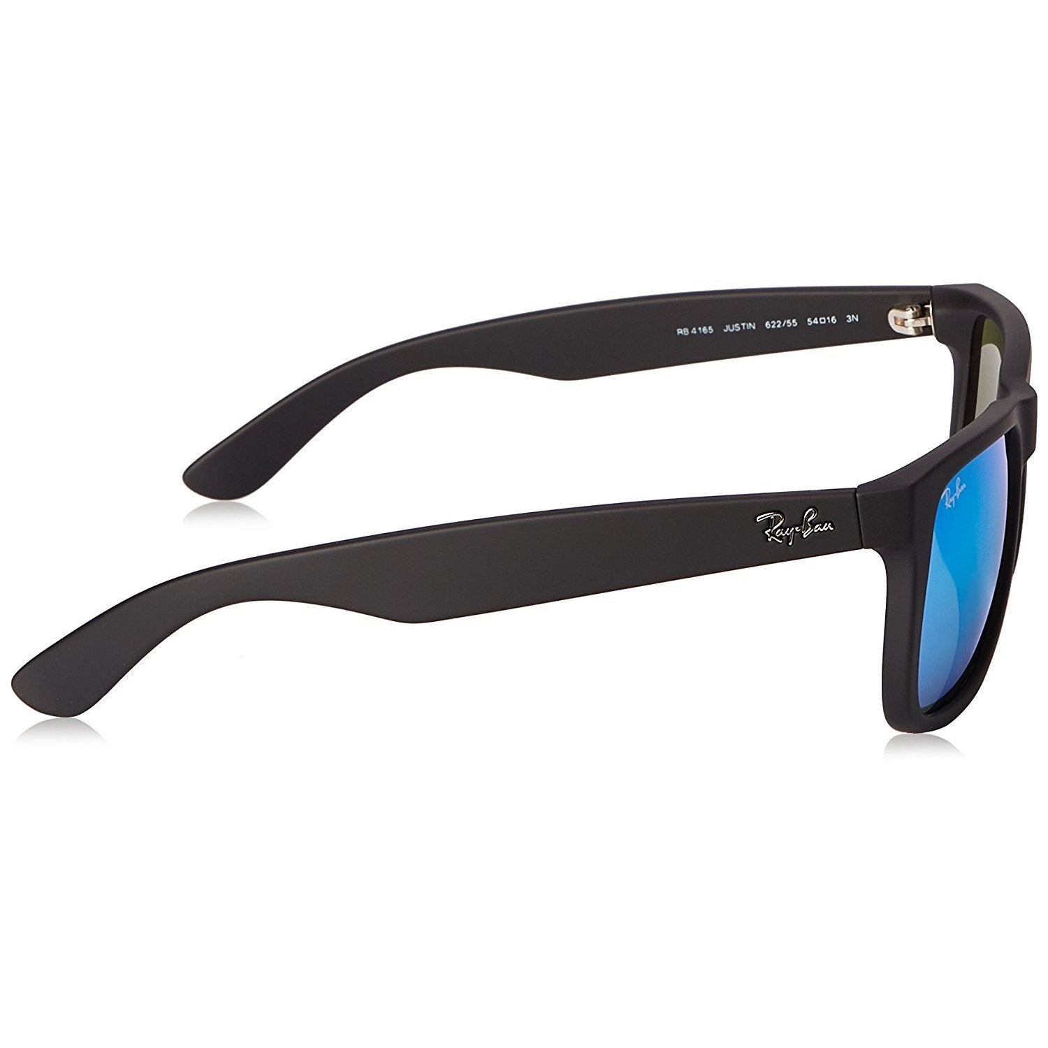 a2a10415bc0 Shop Ray-Ban Justin RB4165 622 55 Men s Black Frame Blue Mirror 55mm Lens  Sunglasses - Free Shipping Today - Overstock - 15299131