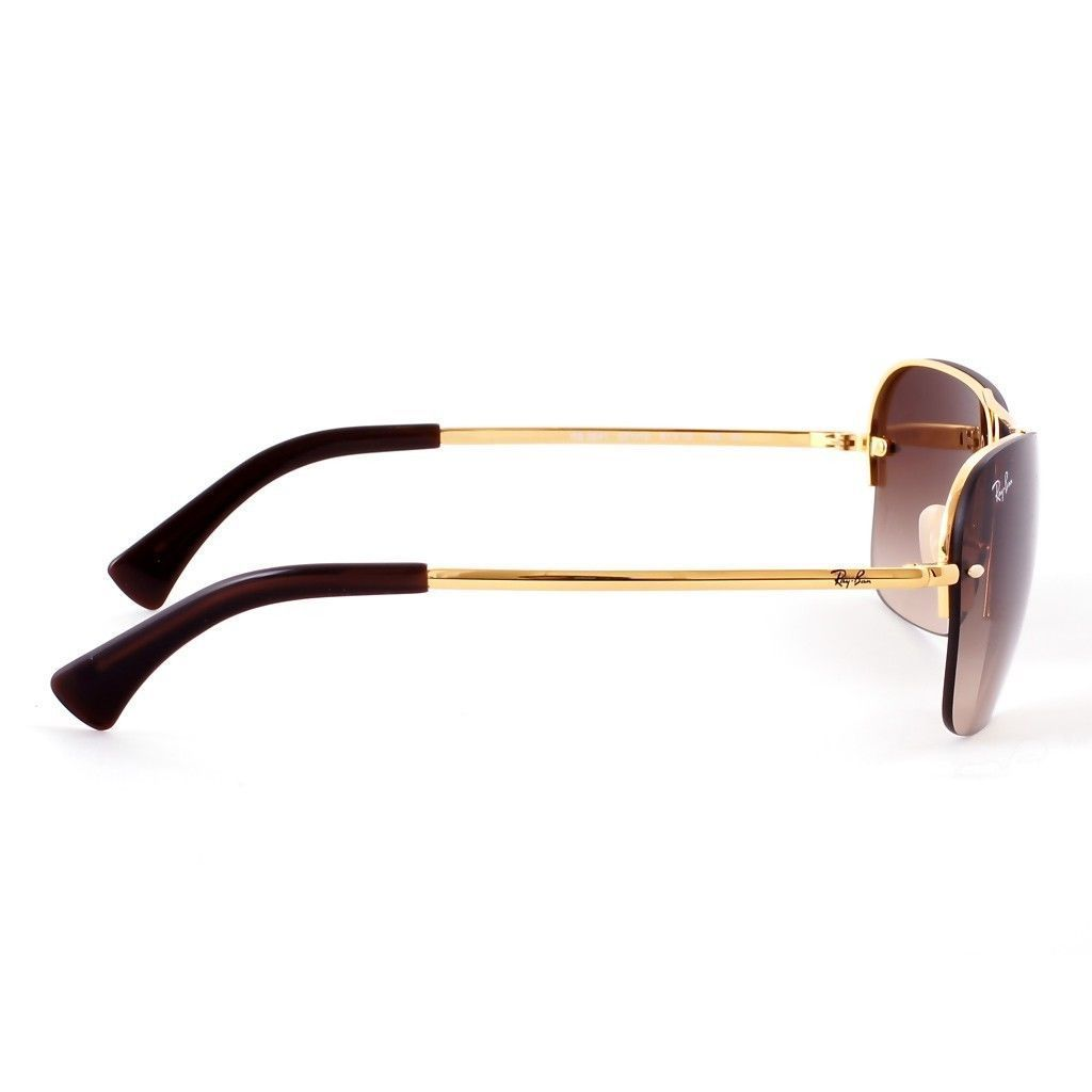 b8688e1464 Shop Ray-Ban RB3541 Men s Gold Frame Brown Gradient 61mm Lens Sunglasses -  Free Shipping Today - Overstock.com - 15299203