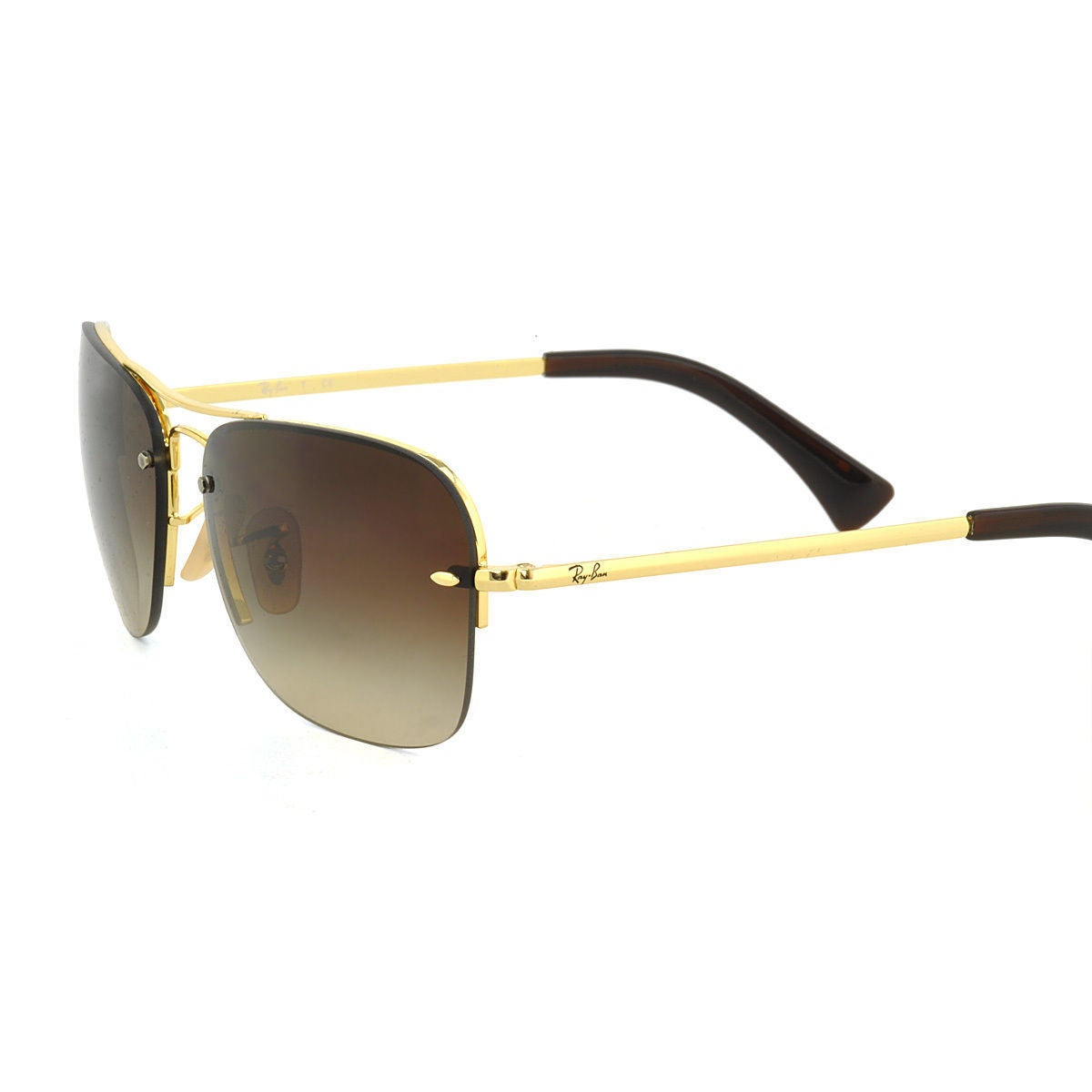600756c953 Shop Ray-Ban RB3541 Men s Gold Frame Brown Gradient 61mm Lens Sunglasses -  Ships To Canada - Overstock.ca - 15299203