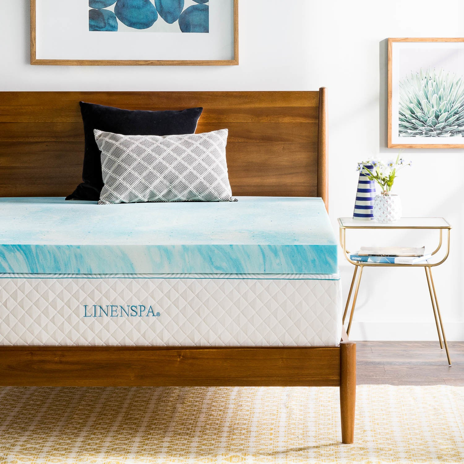 Shop LINENSPA Essentials Gel Swirl Memory Foam Topper - Multiple Thickness  Options - On Sale - Free Shipping Today - Overstock.com - 15299340