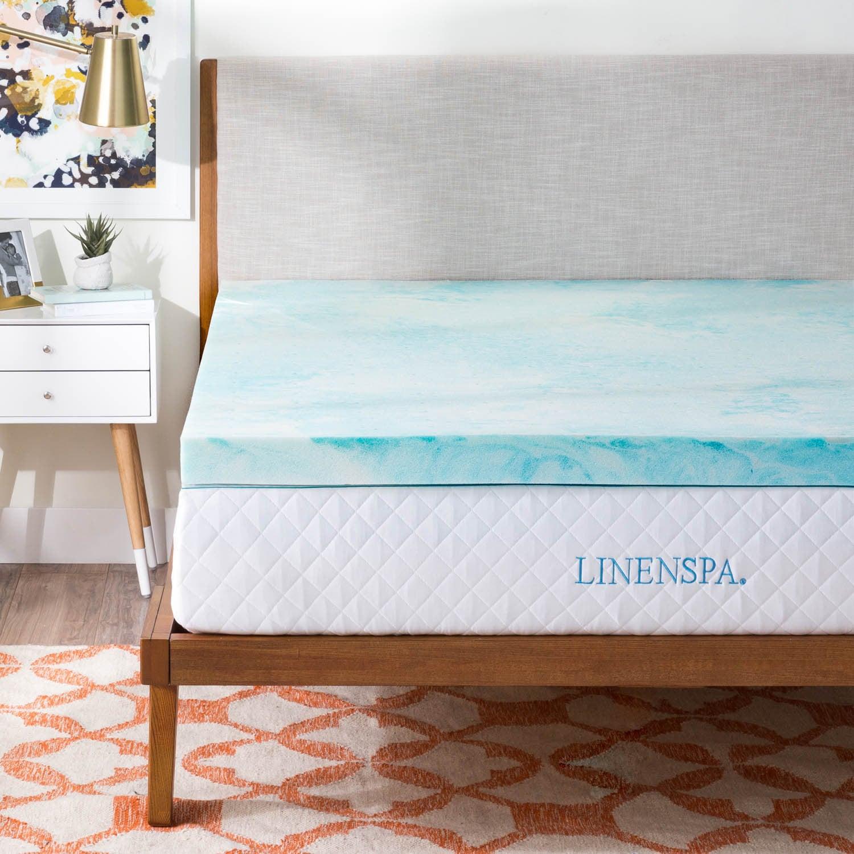 mattress deep inch serta memory therapy double queen topper visco decor for gel bedroom foam your best comfort