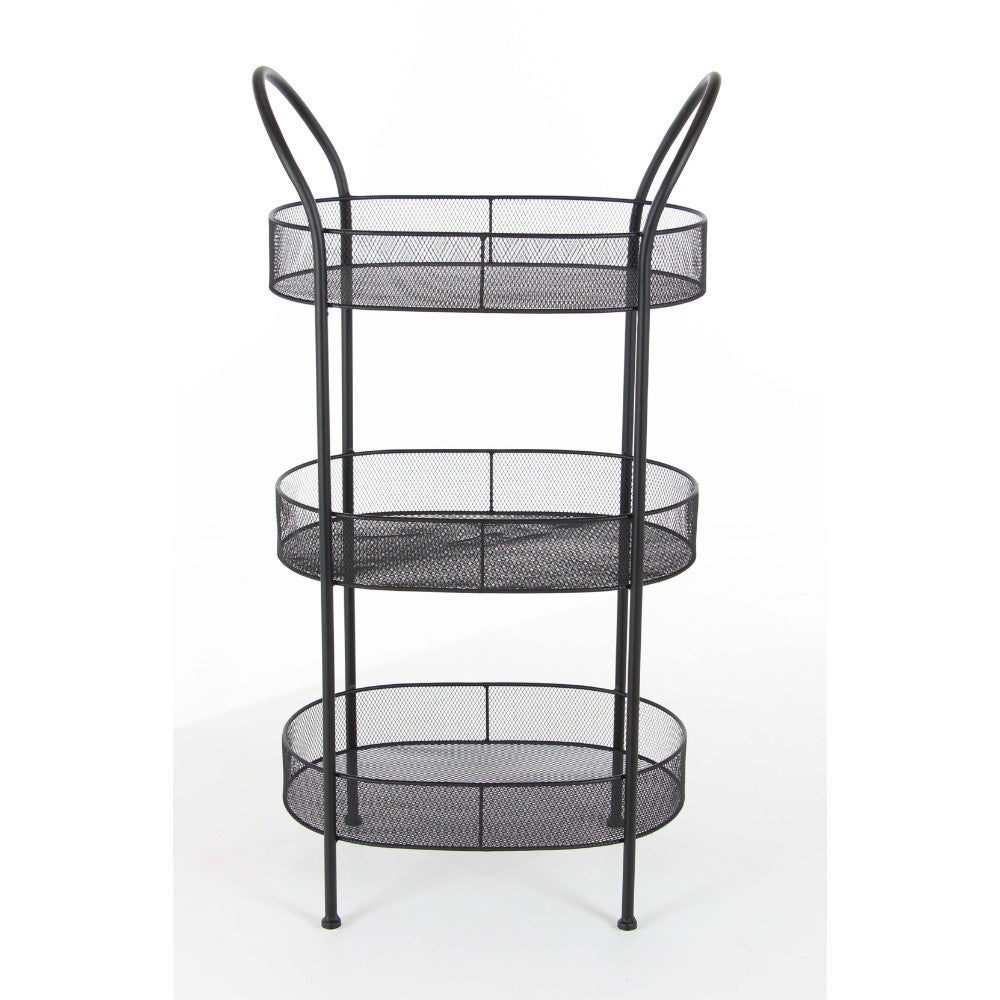 Benzara Black Metal 3-tier Tray Stand - Free Shipping Today ...
