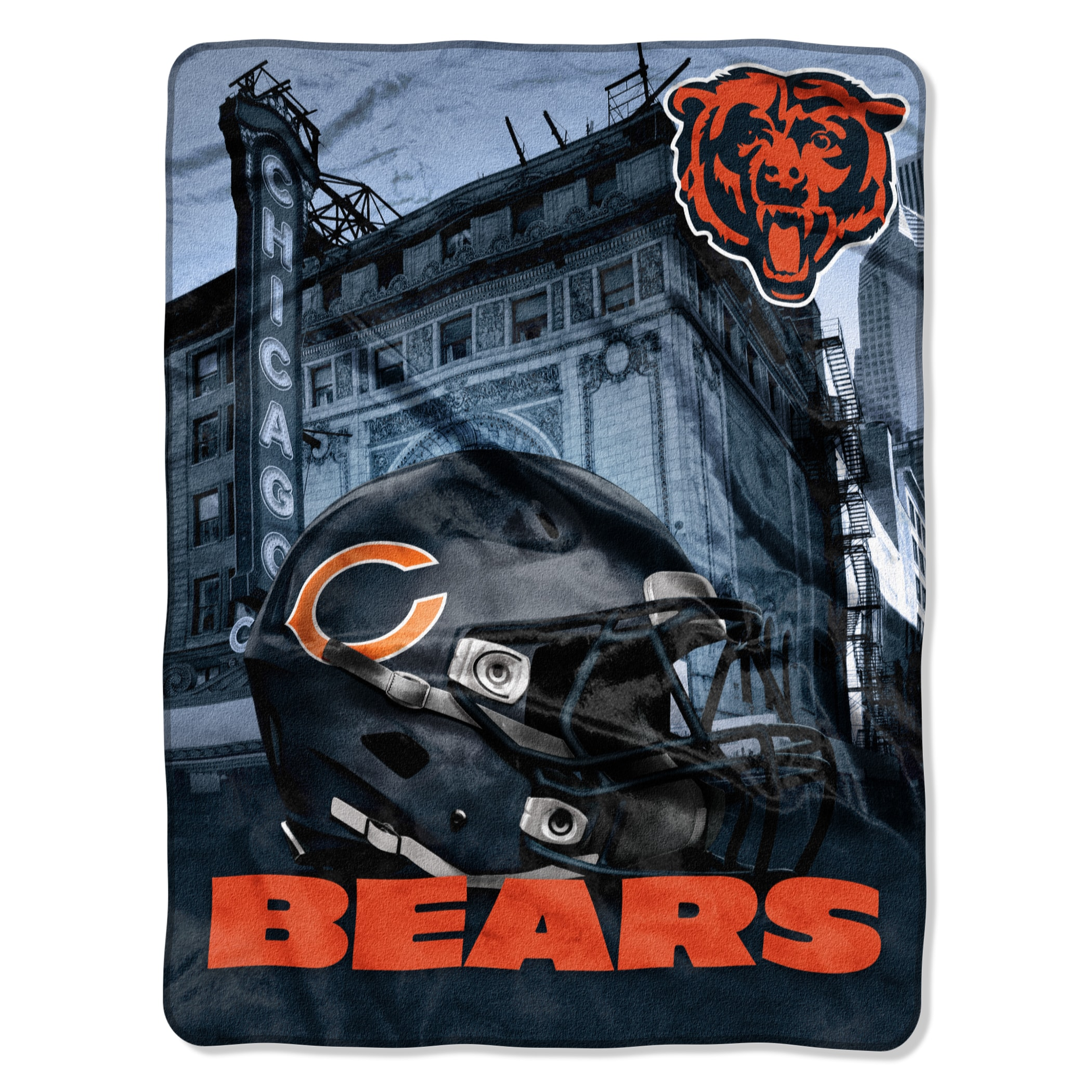 69623549 NFL 071 Bears Heritage Silk Touch Throw
