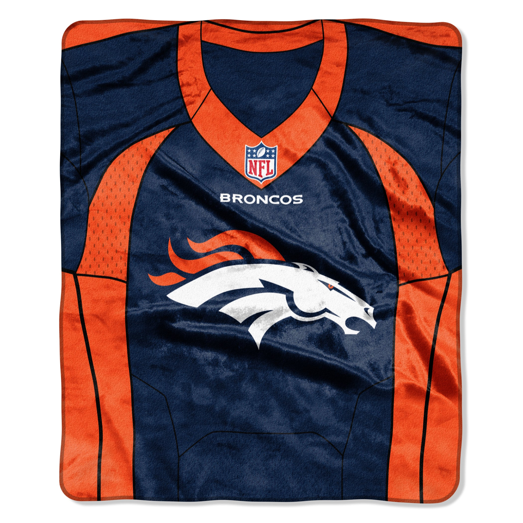 Shop NFL 07080 Broncos Jersey Raschel Throw - On Sale - Free Shipping On  Orders Over  45 - Overstock.com - 15299711 44246f569