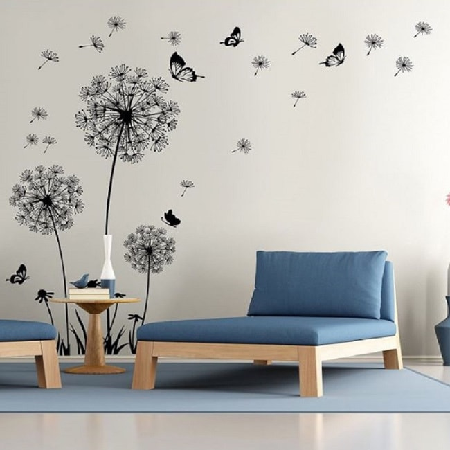 e563eabee Shop Dandelion Wall Decal - Wall Stickers Dandelion Art Decor- Vinyl Large  Peel and Stick Mural