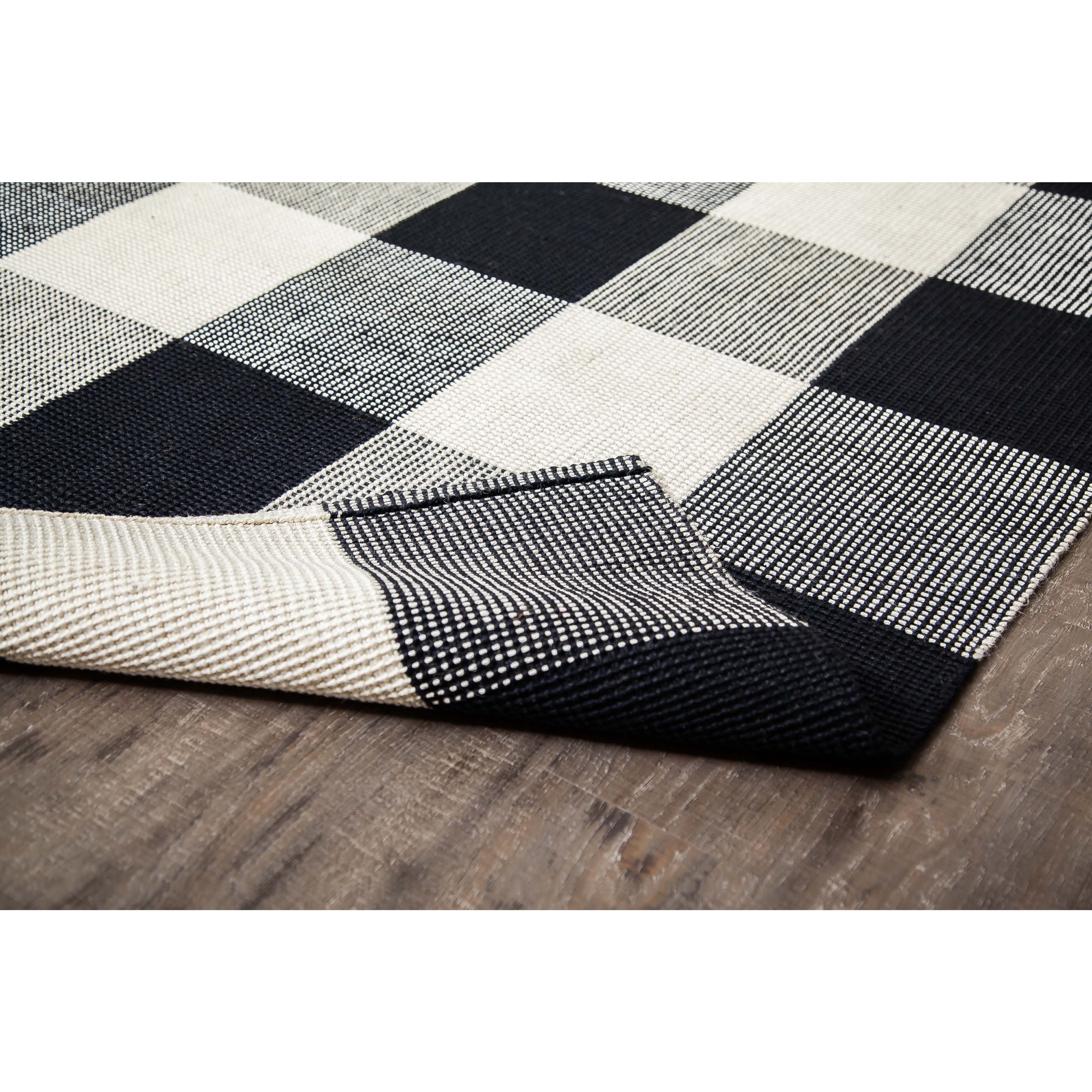 Jani Perry Black And Ivory Buffalo Plaid Jute Rug Free Shipping Today 15312924