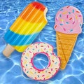 Intex Popsicle, Ice Cream & Donut Float - Combo Pack