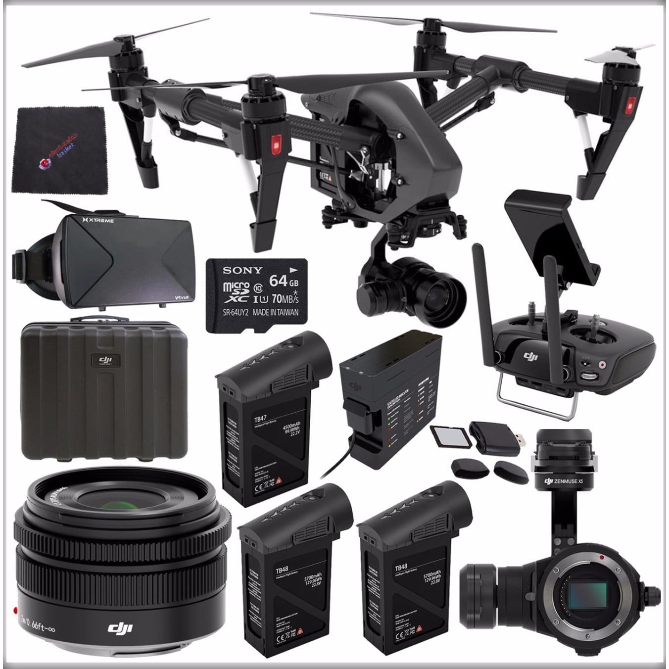 Shop Dji Inspire 1 V20 Pro Black Edition Quadcopter Bundle Ships Zenmuse X5 4k 3 Axis Professional To Canada 15315257
