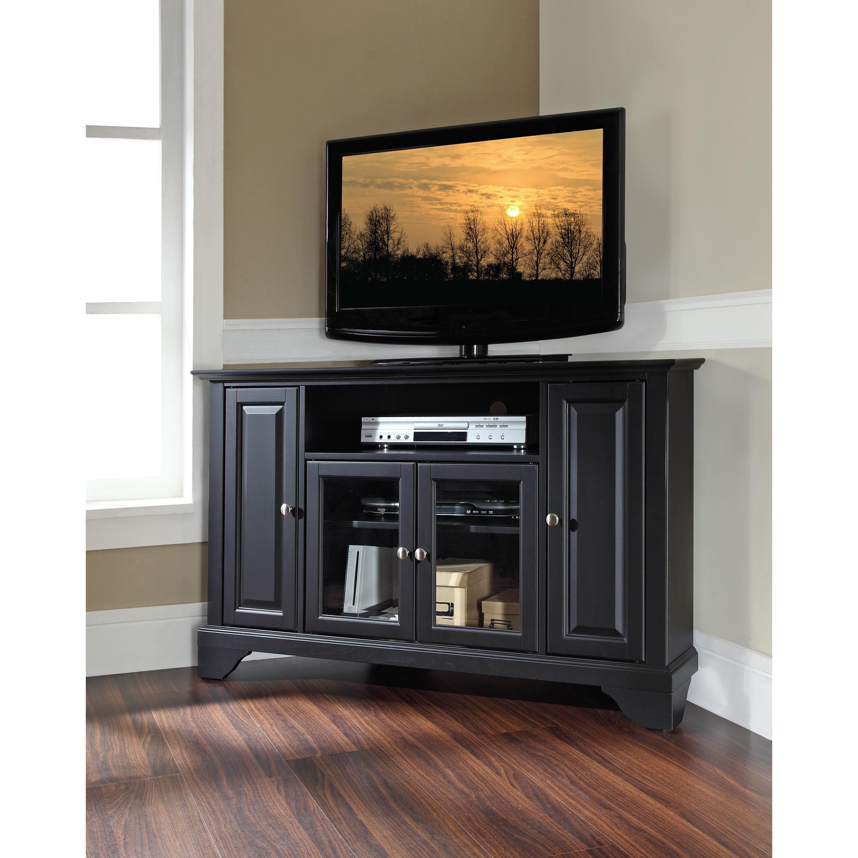 Shop Lafayette Black Wood 48 Inch Corner Tv Stand Free Shipping