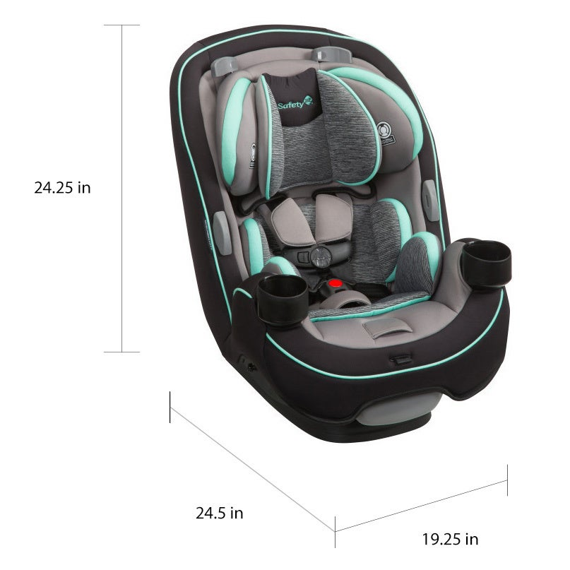 Shop Safety 1st Grow And Go Aqua Pop Plastic 3 In 1 Convertible Car Seat