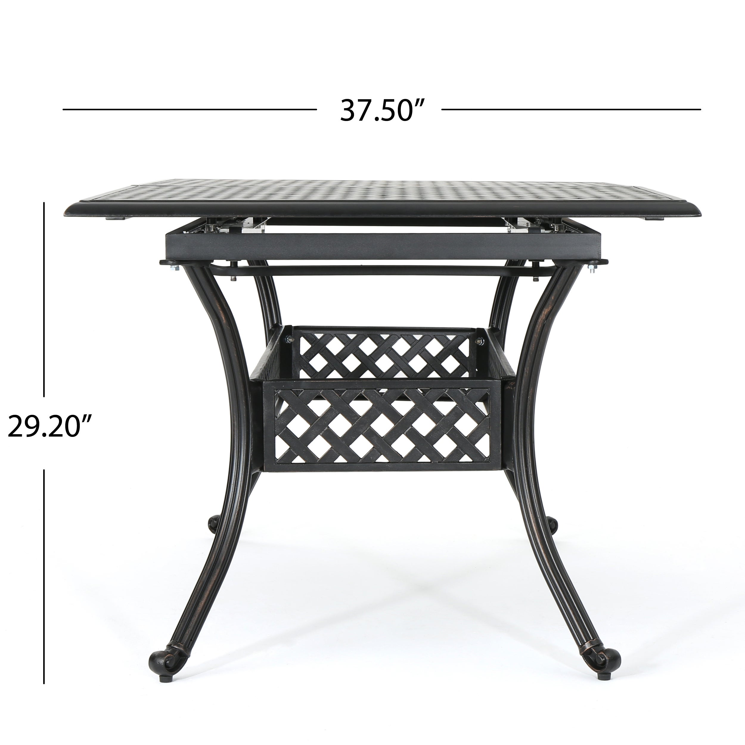 Aail Outdoor Cast Aluminum Expandable Rectangle Dining Table With Umbrella Hole By Christopher Knight Home On Free Shipping Today