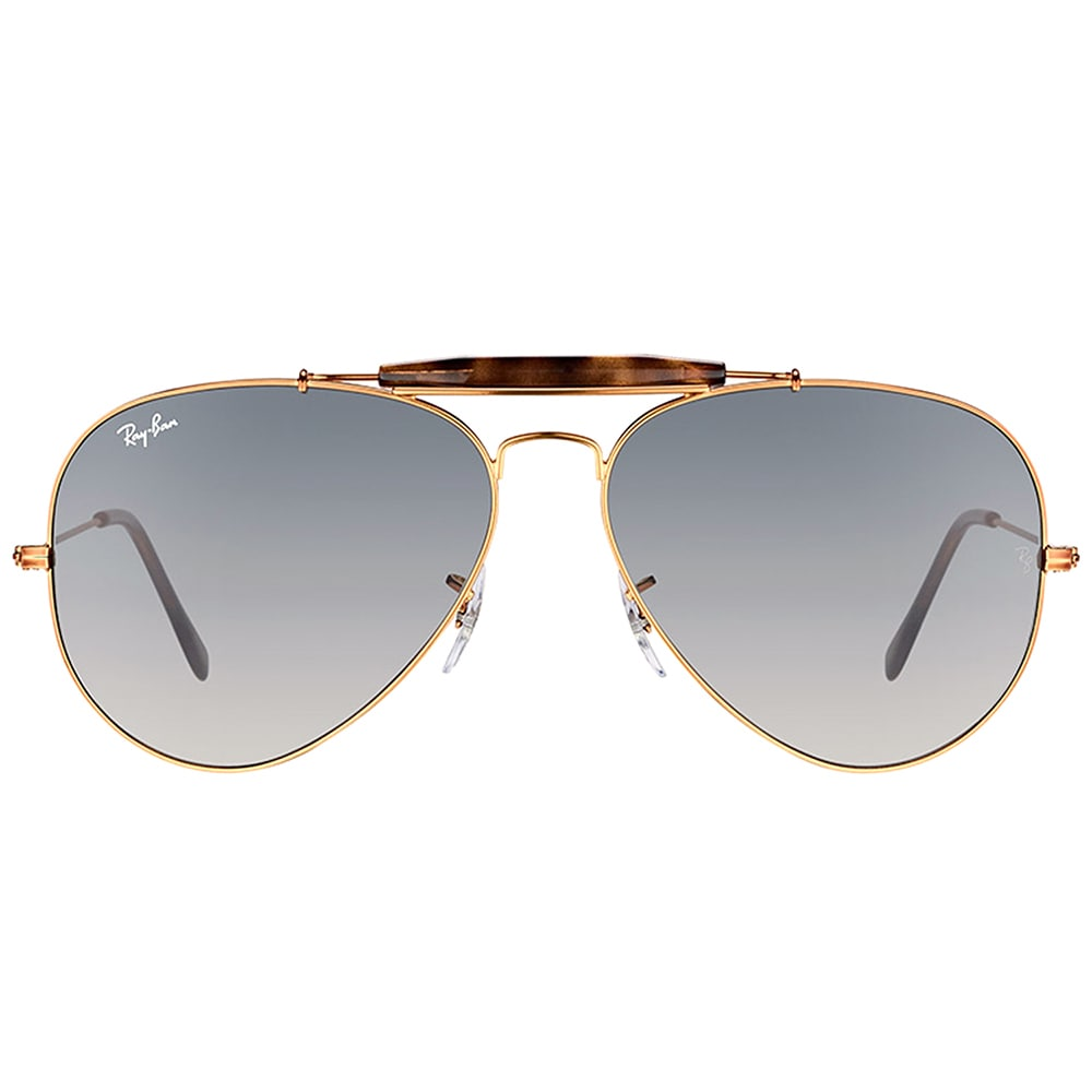fed0db7514 Shop Ray-Ban RB 3029 197 71 Outdoorsman II Shiny Bronze Metal Aviator  Sunglasses Grey Gradient Lens - Free Shipping Today - Overstock - 15336444