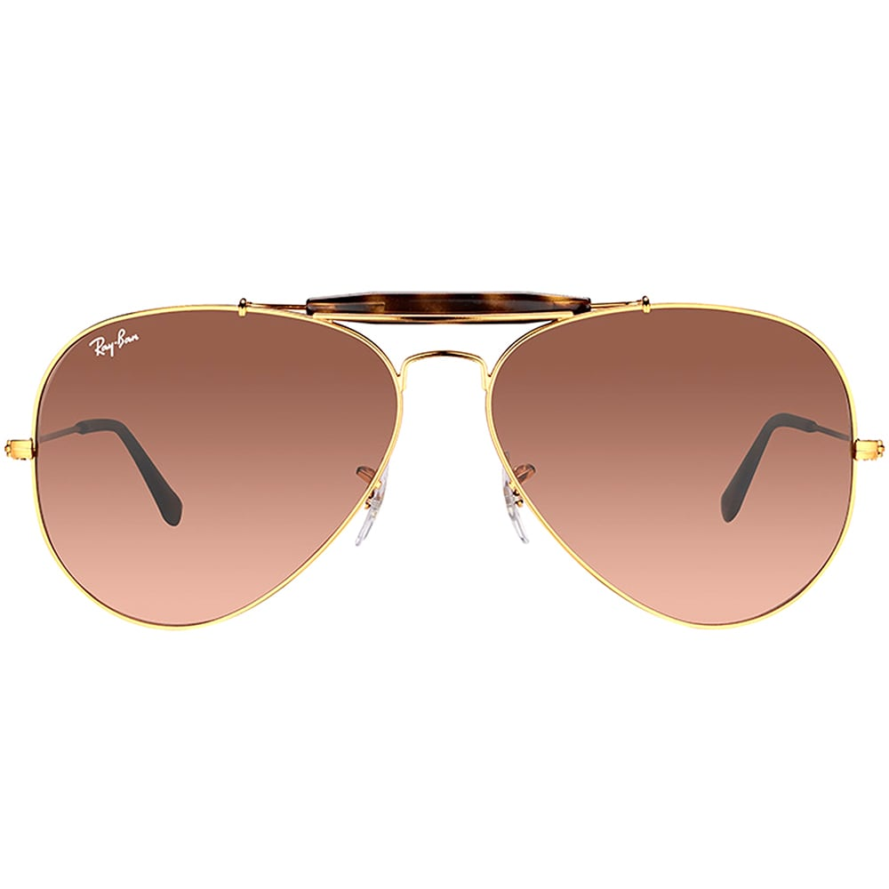 834d69ff84 Shop Ray-Ban RB 3029 9001A5 Outdoorsman II Shiny Light Bronze Metal Aviator  Sunglasses Pink Gradient Brown Lens - Free Shipping Today - Overstock -  15336445