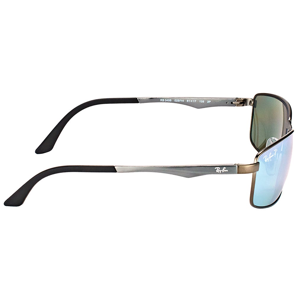 e568eaff72a Shop Ray-Ban RB 3498 029 Y4 Matte Gunmetal Metal Sport Sunglasses Gunmetal  Silver Flash Lens - Free Shipping Today - Overstock - 15336450