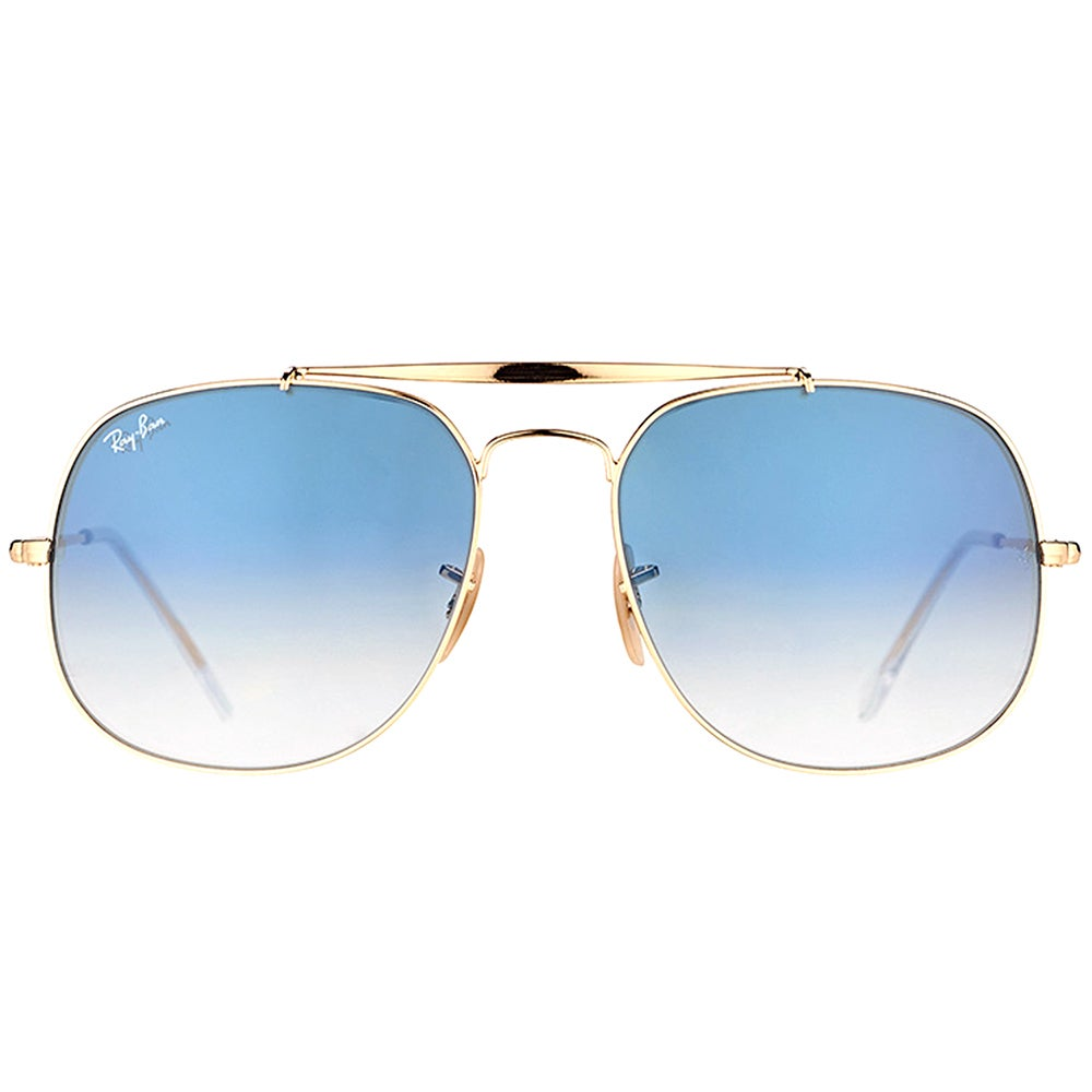 3668e1e042 Shop Ray-Ban RB 3561 001 3F General Gold Metal Aviator Sunglasses Blue  Gradient Lens - Free Shipping Today - Overstock - 15336451