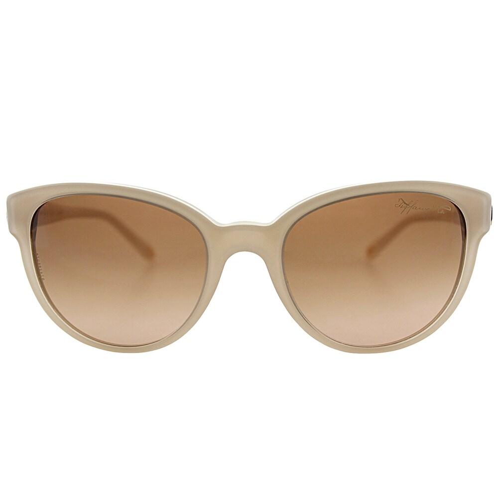 3856bc4f515e Shop Tiffany TF 4109 81703B Tan Plastic Cat-Eye Sunglasses Brown Gradient  Lens - Free Shipping Today - Overstock.com - 15336461