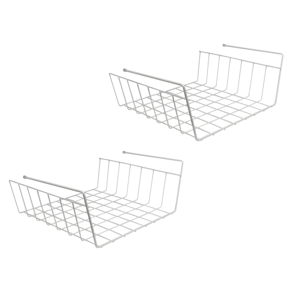 Evelots Pack Of 2 Under Shelf Wire Rack Kitchen Organizer Basket ...