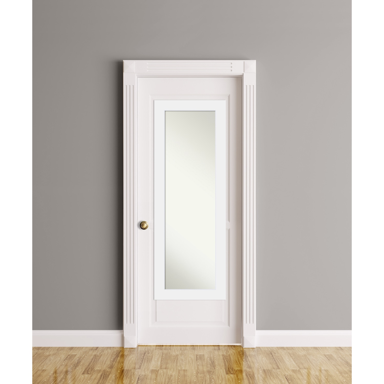 Shop On The Door Full Length Wall Mirror Corvino White 19 X 53 Inch