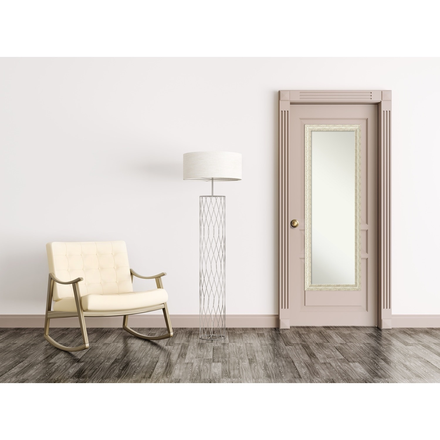 Shop On The Door Full Length Wall Mirror Cape Cod White Wash 18 X