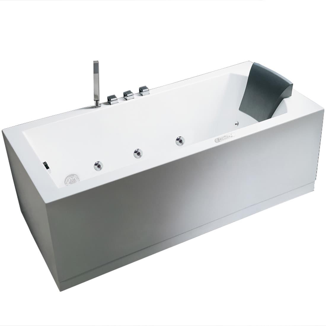 ARIEL PLATINUM AM154JDTSZ-L-70-INCH BATHTUB - Free Shipping Today ...