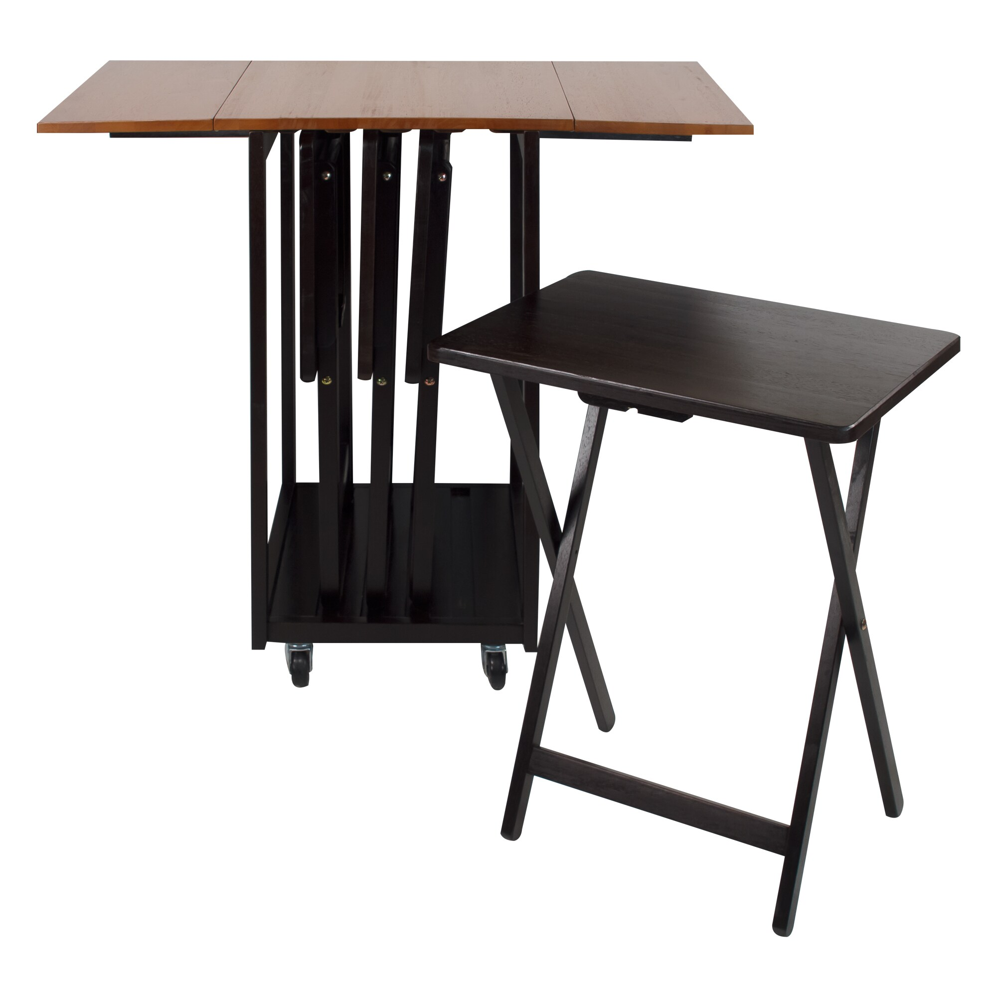Drop Leaf Table/ TV Tray Set - Free Shipping Today - Overstock - 21803930  sc 1 st  Overstock.com & Drop Leaf Table/ TV Tray Set - Free Shipping Today - Overstock ...