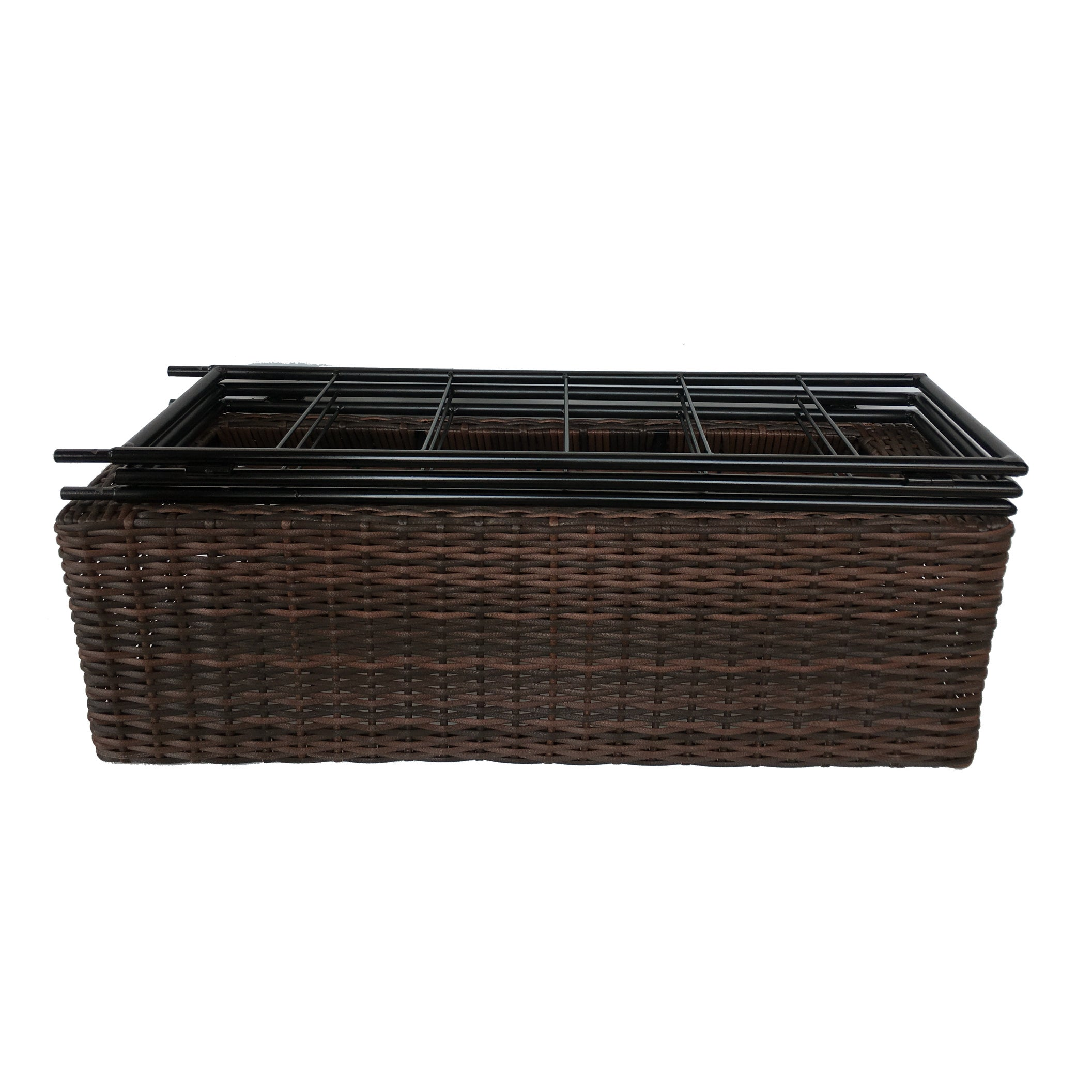 Shop Resin Wicker Planter With Trellis Free Shipping Today