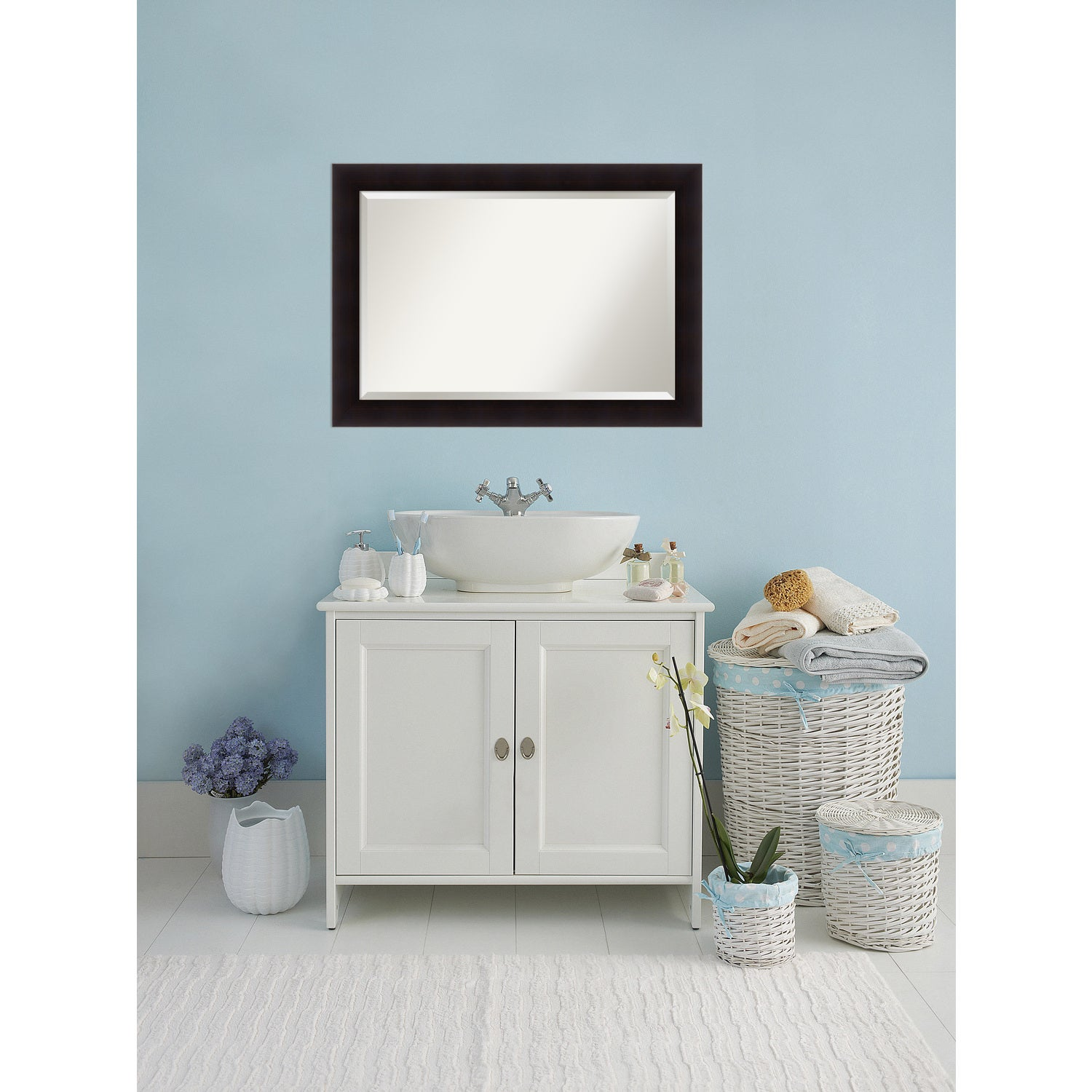 Bathroom Mirror Extra Large Portico Espresso 42 X 30 Inch Brown Free Shipping Today 15342323
