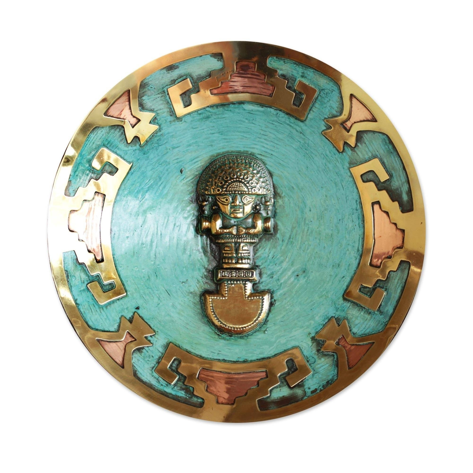 Shop Copper and Bronze Plate, \'Ceremonial Tumi\' (Peru) - On Sale ...