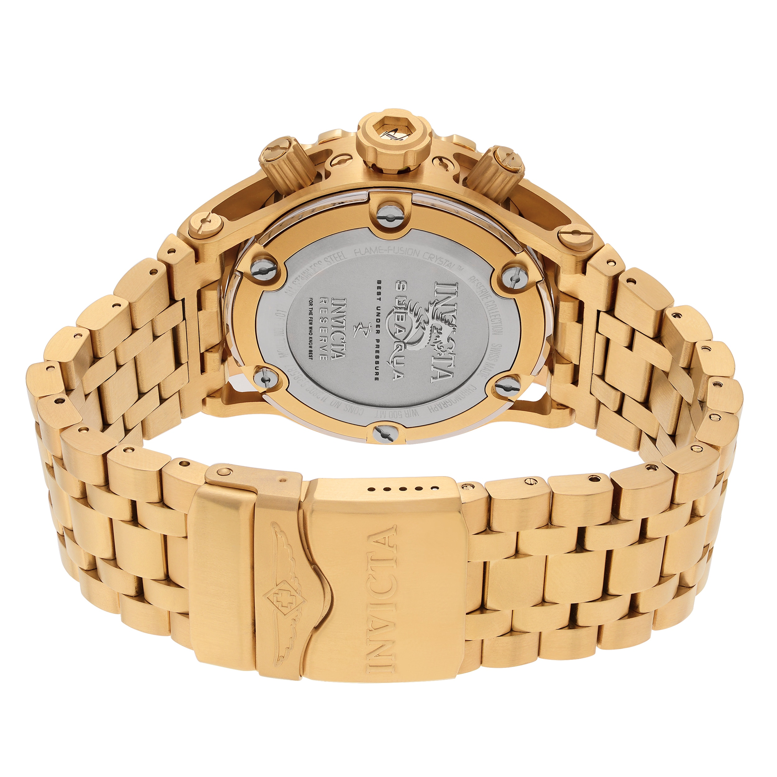 f4f406e370c Shop Invicta Men s 6901  Subaqua  Blemished Goldtone Stainless Steel  Chronograph Dial Link Bracelet Watch - Gold - Free Shipping Today -  Overstock.com - .