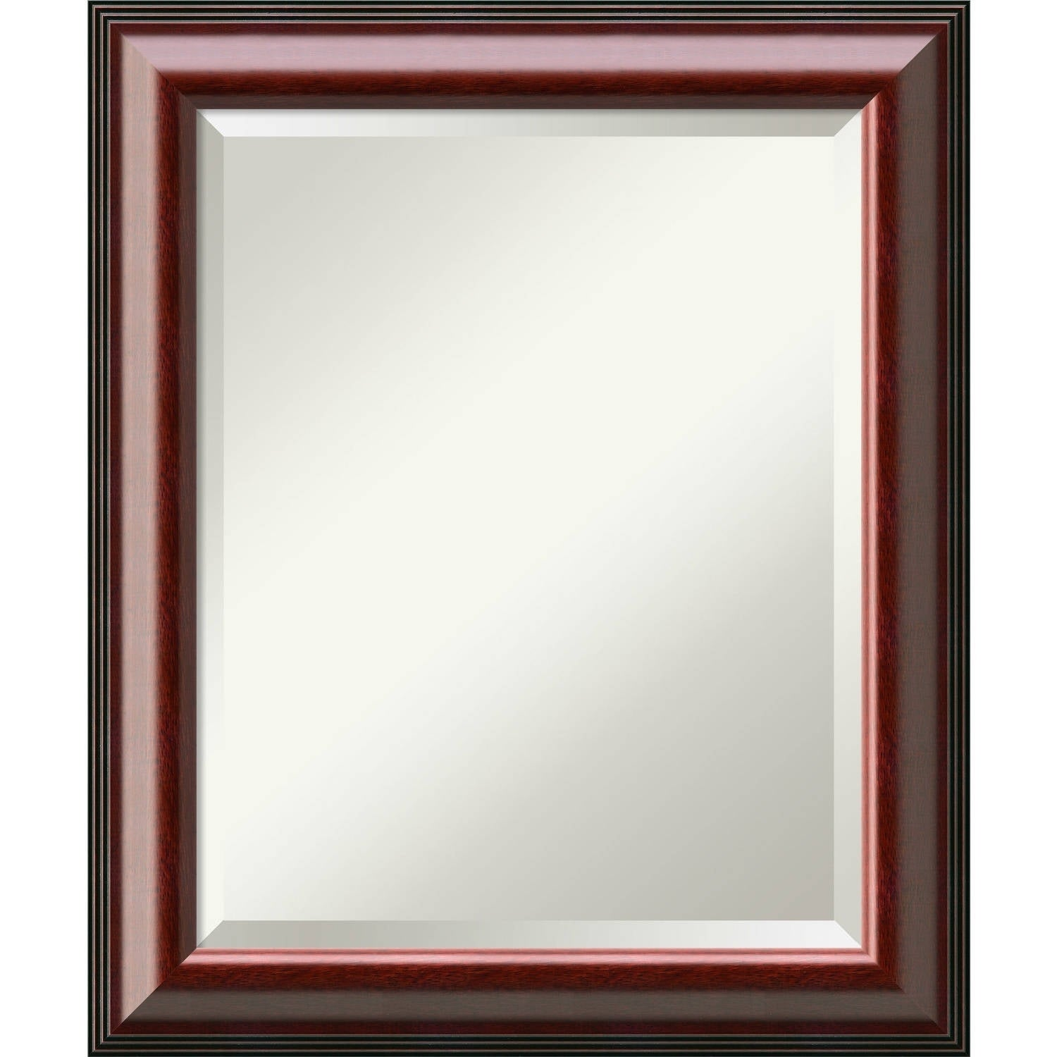 Bathroom Mirror Medium, Cambridge Mahogany   Free Shipping Today    Overstock   21829072