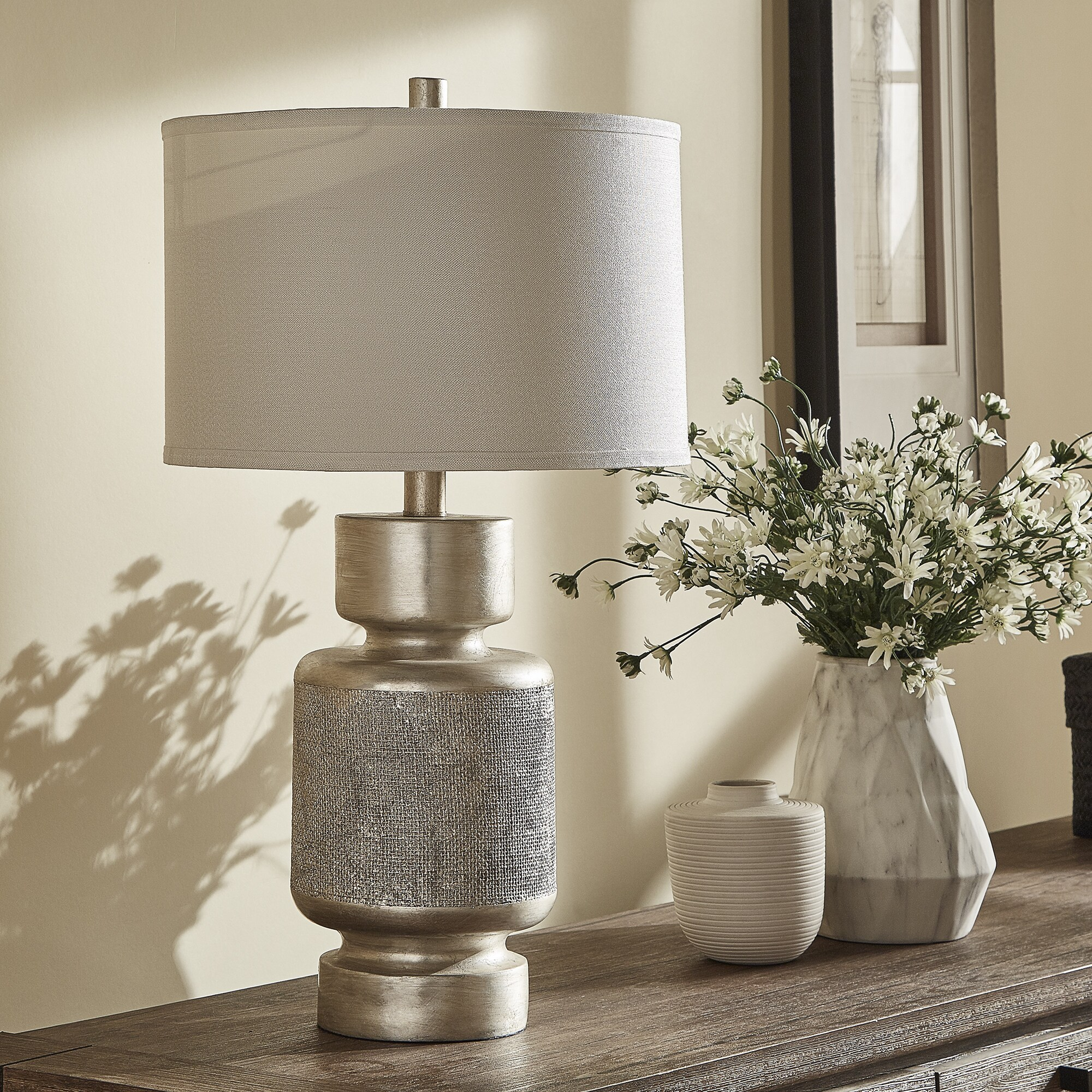 Gracie Antique Silver Table Lamp by iNSPIRE Q Classic - Free Shipping Today  - Overstock.com - 21831106